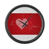 I love you thread Large Wall Clock