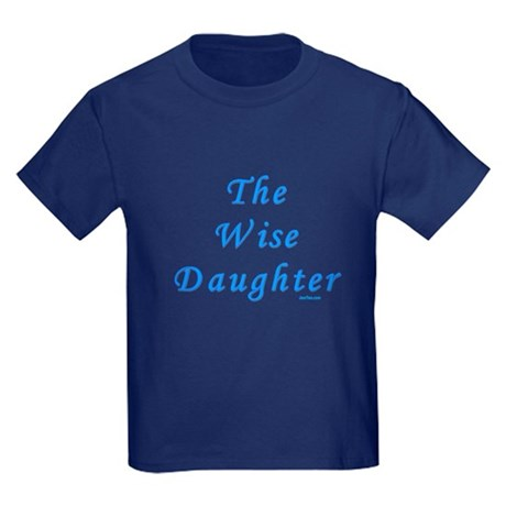 The Wise Daughter Passover Kids Dark T-Shirt