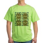 Be An Angel Save A L:ife Green T-Shirt