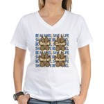 Be An Angel Save A L:ife Women's V-Neck T-Shirt