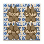 Be An Angel Save A L:ife Tile Coaster