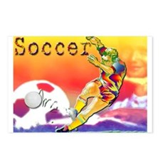 Postcards (Package of 8) Soccer Collage art