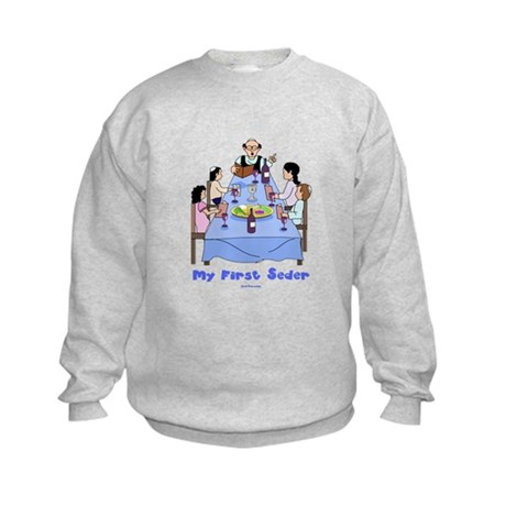First Seder Jewish Kids Kids Sweatshirt
