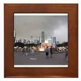 Unique Chicago downtown Framed Tile