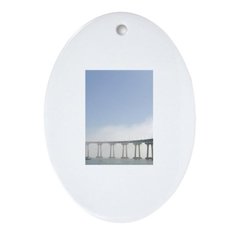 Coronado Bridge Ornament (Oval)