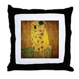 Gustav Klimt 'The Kiss' Throw Pillow