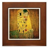 Gustav Klimt 'The Kiss' Framed Tile