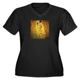 Gustav Klimt 'The Kiss' Women's Plus Size V-Neck D