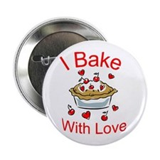 "I Bake with Love (1) 2.25"" Button (10 pack)"