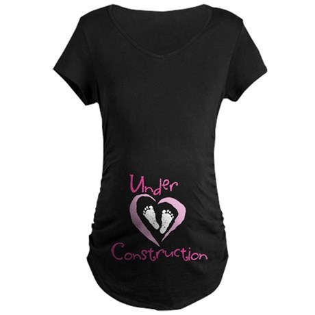 Baby Girl Under Construction Maternity Shirt