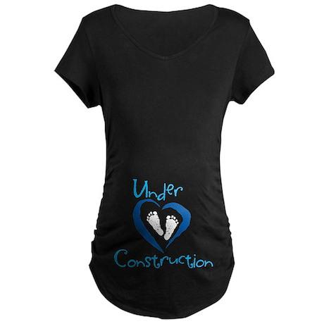 Baby Boy Under Construction Maternity Shirt