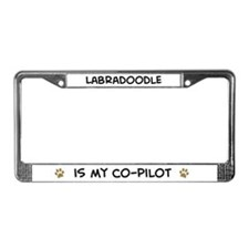 Co-pilot: Labradoodle License Plate Frame