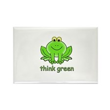 Think Green Frog Rectangle Magnet (10 pack)