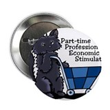 "Black Cat Economic Stimulator 2.25"" Button"
