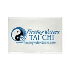 Flowing Waters Tai Chi Rectangle Magnet