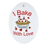 I Bake with Love Pendant (Oval)