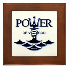Power of Poseidon Framed Tile
