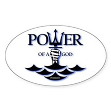 Power of Poseidon Sticker (Oval)