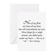 Not flesh of my flesh... Greeting Cards (Package o