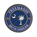 South Carolina Masons Wall Clock