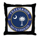 South Carolina Masons Throw Pillow