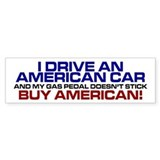 American Car Bumper Bumper Sticker