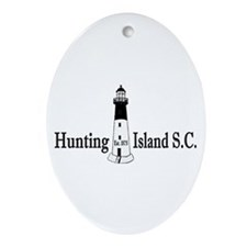 Hunting Island SC Ornament (Oval)
