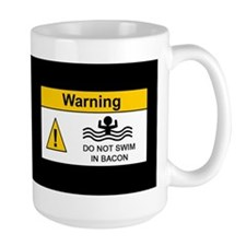 Funny Bacon Warning Mug