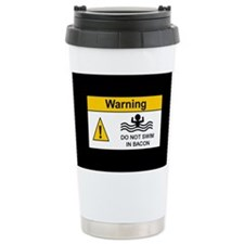 Funny Bacon Warning Ceramic Travel Mug