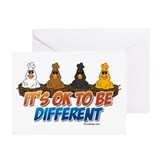 It's OK To be Different Greeting Cards (Pk of 20)