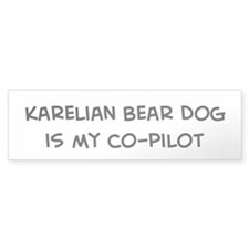 Co-pilot: Karelian Bear Dog Bumper Bumper Sticker