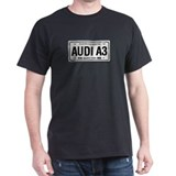 AUDI A3 License Plate Black T-Shirt