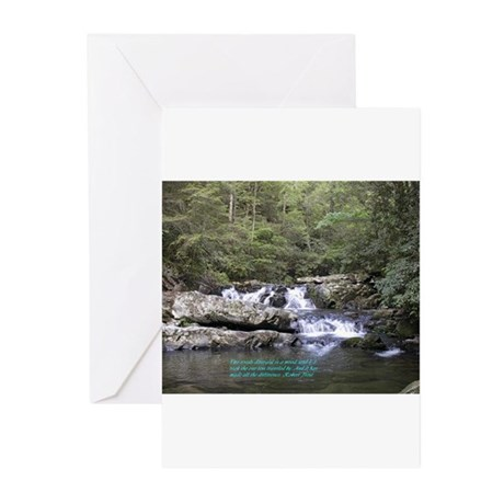 Waterfall w/poem Greeting Cards (Pk of 10)