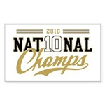 2010 National Champs Sticker (Rectangle)