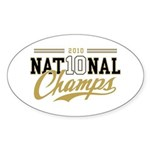2010 National Champs Sticker (Oval 10 pk)