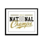 2010 National Champs Framed Panel Print