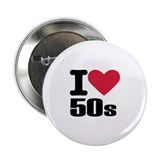 "I love 50's 2.25"" Button (10 pack)"