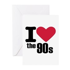 I love the 90's Greeting Cards (Pk of 10)