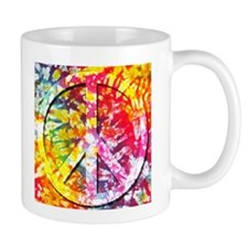 Tie Dyed Peace Small Mug