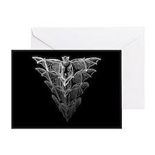 Bat Black Greeting Card