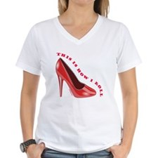 RED HIGH HEEL SHOES Shirt