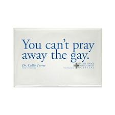 Pray Away the Gay - Grey's Anatomy Rectangle Magne