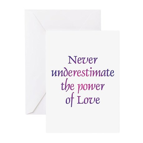 Power Of Love Greeting Cards ~ Package of 10