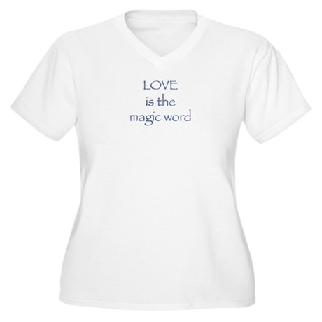 Magic Word Women's Plus Size V-Neck T-Shirt