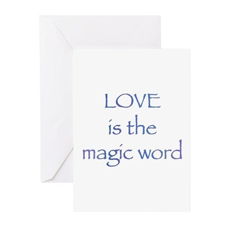 Magic Word Greeting Cards ~ Package of 10
