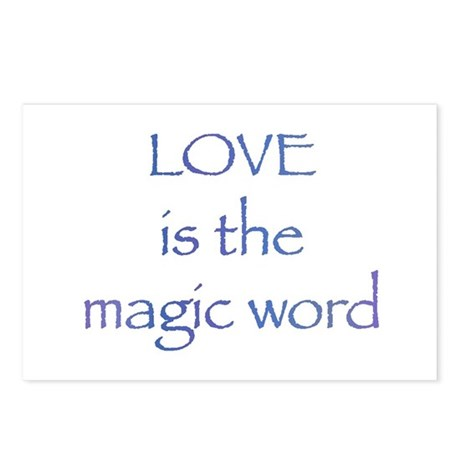 Magic Word Postcards ~ Package of 8