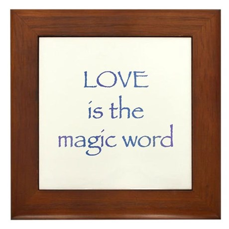 Magic Word Framed Tile