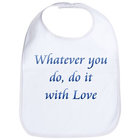 Do It With Love Baby Bib