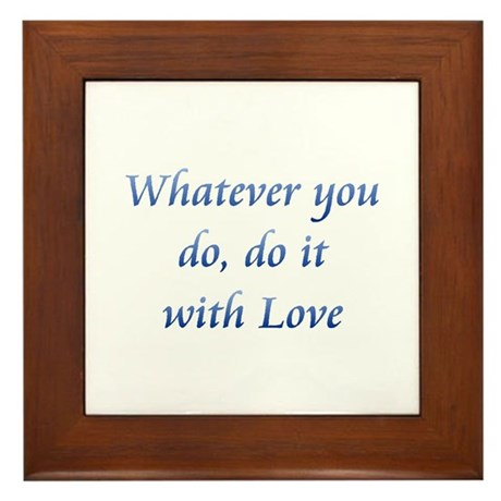 Do It With Love Framed Tile