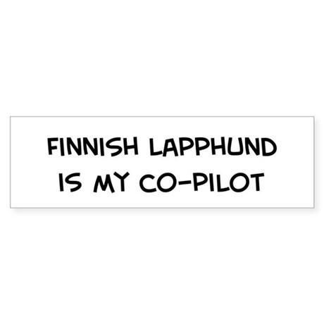 Co-pilot: Finnish Lapphund Bumper Sticker